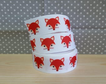 1 meter of Ribbon Fox grosgrain