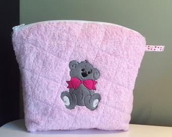 Embroidered toilet bag Teddy bear