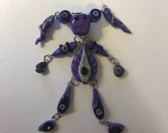 Zombie/robot dangle Keychain