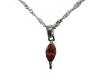 """Necklace """"Marquise Ruby"""""""