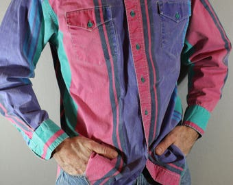 Vintage Wrangler button up shirt 80's western