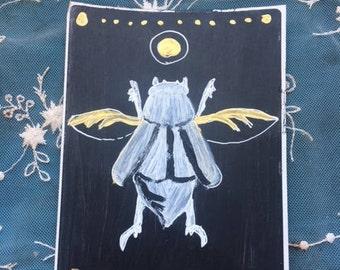 Handmade Scarab Beetle Sticker