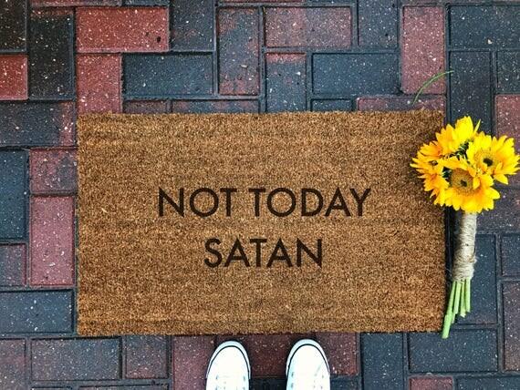 Not Today Satan Doormat / Funny Doormat / Quote Doormat / Fall
