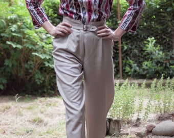 80's High waisted Peg Trousers