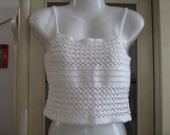 Light longline bra in the hook t. Hand-made 34/36