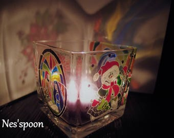NES'spoon Christmas candle holder