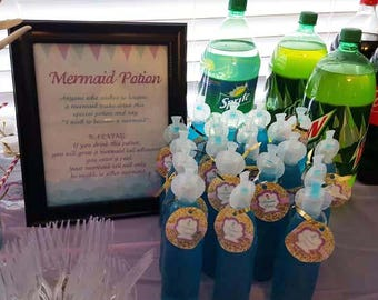 Mermaid sign | Mermaid Potion sign | Mermaid party