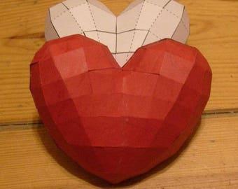Paper Heart Model DIY Paper Craft