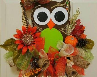 Marvelous Fall Door Hanger, Owl Door Hanger, Cheap Door Hangers, Autumn Door Hangers,
