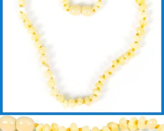 Authentic Baltic Amber Baby Teething Necklace - Butterscotch