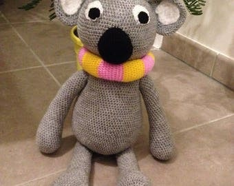 Koala bear with a snood crochet - Amigurumi