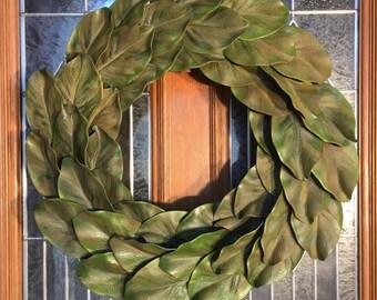 Classic Magnolia Leaf Wreath-#1065