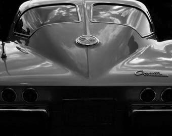 Antique Chevy 1963 63 Chevrolet Corvette Stingray vintage Americana Photo Print car picture man-cave chrome photograph sports car