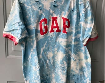 Bleached and Ripped Distressed Gap Shirt