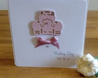Vintage car wedding card, greeting card, special couple