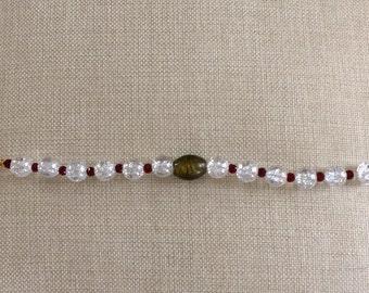 Chunky glass bead bracelet