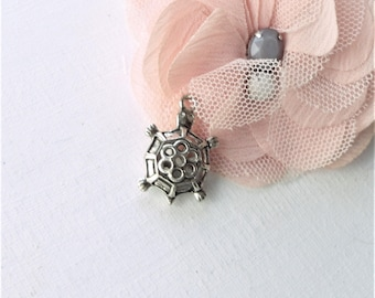 silver charm, turtle charm, bracelet charm. charm turtle pendant,
