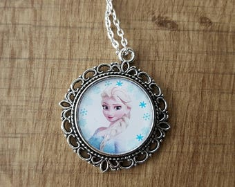 """children """"The snow Queen"""" necklace in silver"""