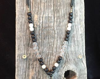 Ebony and Ivory Diffuser Necklace