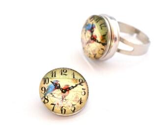 Snap chunk clock 18 mm cabochon