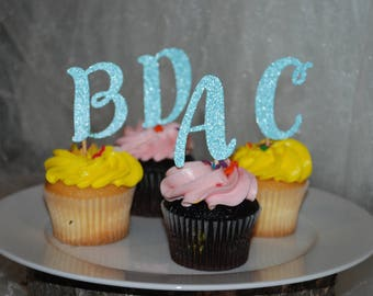 Initial Cupcake Toppers