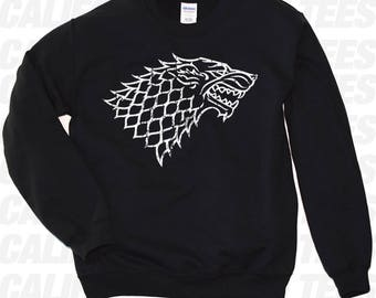 Game of Thrones Sweatshirt. House Stark Game of Thrones Sweatshirt. Game of Thrones Merchandise. S-3XL. 8+ colors available.