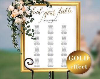 Wedding Seating Chart, Wedding Seating Chart Sign, Seating Chart, Seating Chart Template, Seating Board, Instant Download, PDF, #HQT011_9