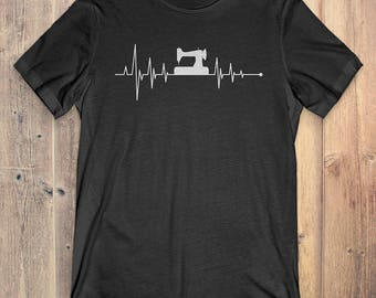 Sewing T-Shirt Gift: Heartbeat Sewing