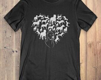 Dogo Argentino T-Shirt Gift: Heart Dogo Argentino
