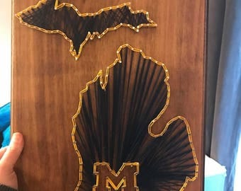 U of m String art