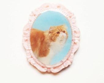 magnet portrait chat persan camée photo aimant frigo idée cadeau