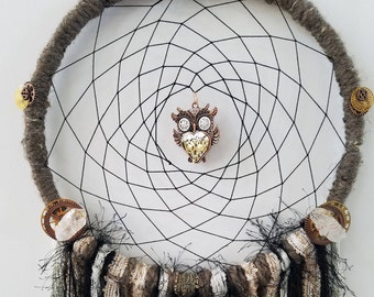 Steampunk owl Dreamcatcher