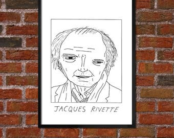 Badly Drawn Jacques Rivette - Film / Movie / Cinema Poster