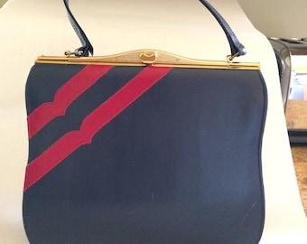 Vintage Navy w/ Red purse