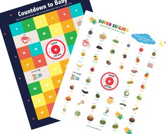 Countdown to Baby Calendar with Growth Chart Stickers