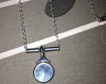 Flute key necklace