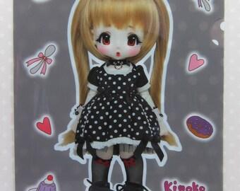"A4 Plastic File Folder [Kiki Hoekuchi, A4 folders ""Kiki hecti"" KINKOJUICE"