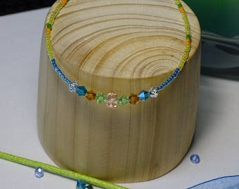 Swarovski Crystal beads and Miyuki Beads Bracelet