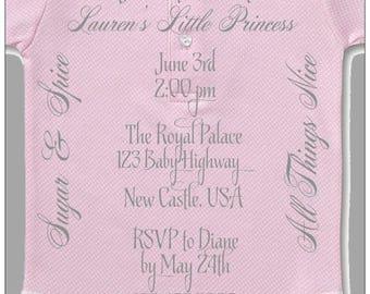 Pink Shower Invitation