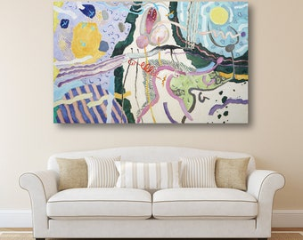 Original Painting Oil Painting Abstract Art Abstract  Erotic art Canvas Art Modern Artwork  Large Painting Canvas Art Wall