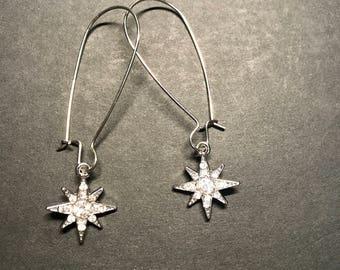 Gauge Dangle Earring - Starburst Charm
