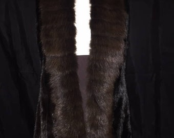 black mink with sable tuxedo vest