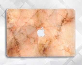 Orange Marble Macbook 12 Macbook Air 11 Macbook Pro Laptop Case Macbook Hard Case Macbook Air Marble Macbook Air 13 Macbook Pro Retina