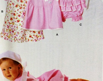 Burda 9802 Sewing Pattern, Infant Dress, Infant Diaper Cover, Size 3mos-18mos, OOP