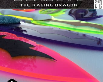 DEADEYE, The Raging Dragon. The MobStar Series Limited Edition Wizard Weaponry! Hand-Crafted Knife Dagger Mystical Instinctual Energy