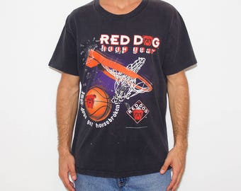 Red Dog Hoop Gear, 90s T-shirt, Basketball, Sportswear, Sports, Vintage Athletic, Tumblr, 90s Shirts Tumblr, Black Tshirt, Activewear