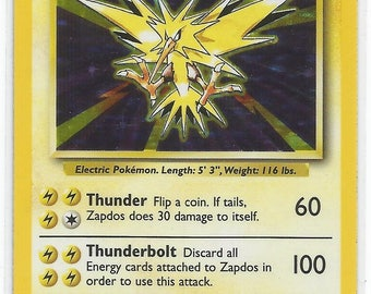 Pokemon base set Zapdos