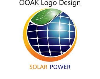 Solar company logo etsy solar power logo ooak logo design solar panels logo logo design logo colourmoves Image collections