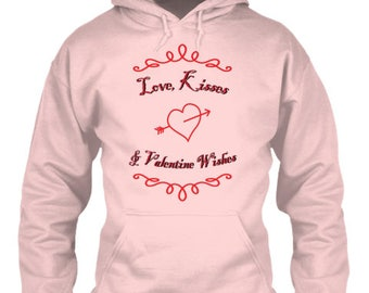 Love Kisses & Valentine Wishes Hoodie