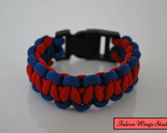 Red and Blue Cobra Paracord Bracelet
